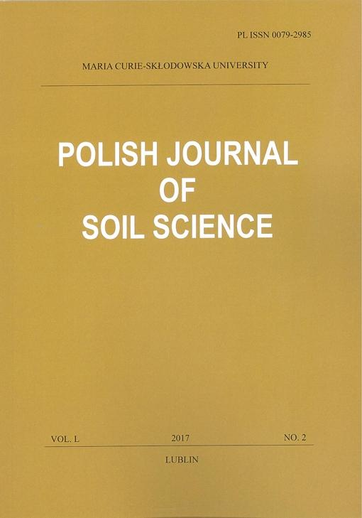Okładka: Polish Journal of Soil Science vol. L, NO. 2/2017
